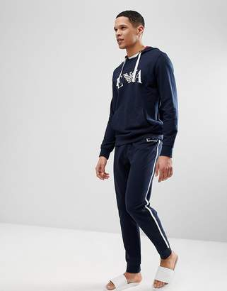 Emporio Armani Lounge Sweat Joggers In Navy
