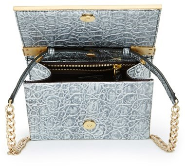 Brian Atwood 'Ava' Metallic Leather Top Handle Convertible Clutch