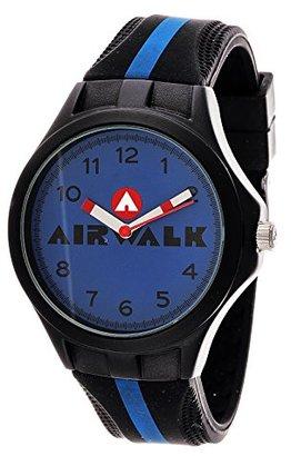 Airwalk アナログブルーダイヤルブラックとブルー時計