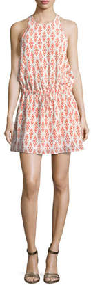 Joie Diega Silk Self-Tie Mini Dress