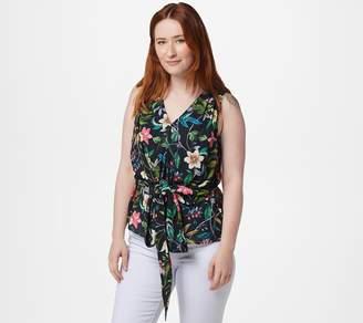 Sam Edelman Sheer Sleeveless Floral Blouse
