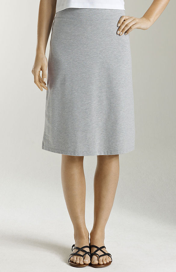 J. Jill Pima-stretch A-line skirt