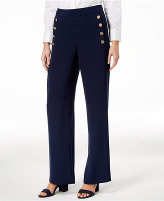 DKNY Wide-Leg Sailor Pants, Created for Macy's