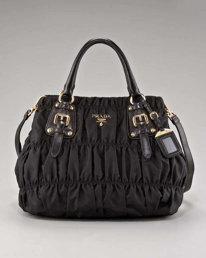 Prada Medium Ruched Shoulder Bag