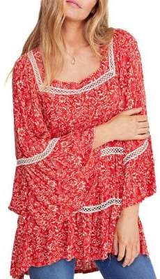 Free People Talk About It Floral-Print Tunic