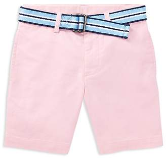 Polo Ralph Lauren Boys' Slim-Fit Belted Stretch Shorts - Little Kid