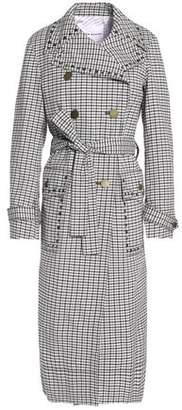 Sonia Rykiel Double-Breasted Checked Jacquard Trench Coat