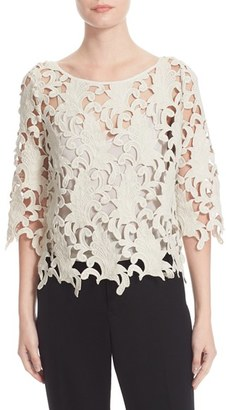 Women's Tracy Reese Guipure Lace Top $268 thestylecure.com