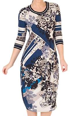 Riviera chesca Chesca Floral and Abstract Print Dress,