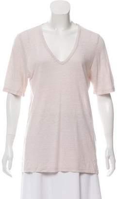 Etoile Isabel Marant Linen V-Neck T-Shirt