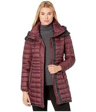 Andrew Marc Quilted Puffer Coat with Removable Hoodie