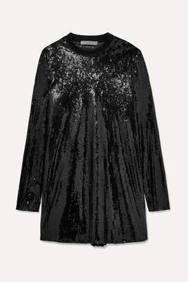 Philosophy di Lorenzo Serafini Sequined Tulle Mini Dress - Black