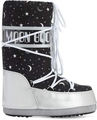 Moon Boot UNIVERSE PRINTED NYLON SNOW BOOTS
