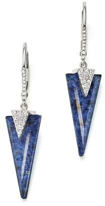 Meira T 14K White Gold and Diamond Sodolite Icicle Earrings