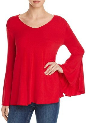 Kim & Cami Bell Sleeve Jersey Top - 100% Bloomingdale's Exclusive $68 thestylecure.com