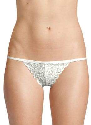 Free People Floral Lace Thong