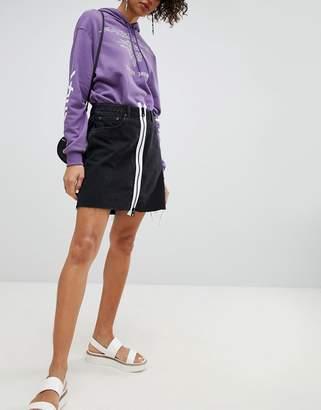 Cheap Monday Denim Skirt with White Zip