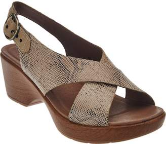 Dansko Leather Criss Cross Strap Sandals - Jacinda
