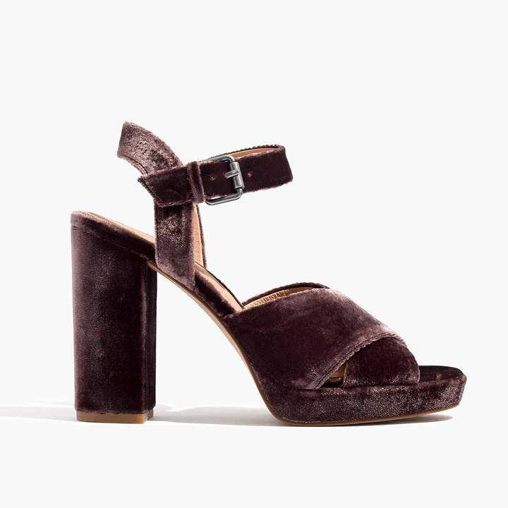 The Vanessa Sandal in Velvet