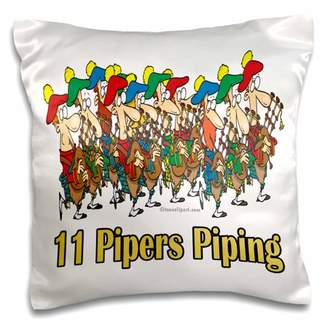 Eleven Paris 3dRose Pipers Piping - Pillow Case, 16 by 16-inch