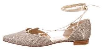 Stuart Weitzman Glitter Lace-Up Sandals
