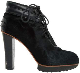 Tod's Pony-style calfskin lace up boots