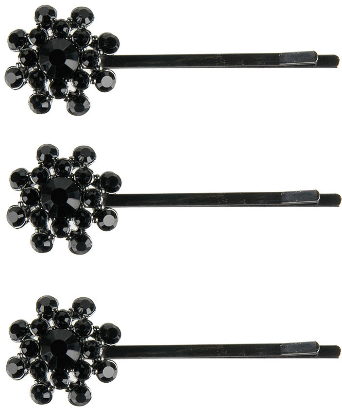 Jeweled Flower Bobby Pin