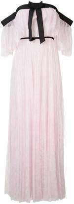 Giambattista Valli off-shoulder pleated lace gown