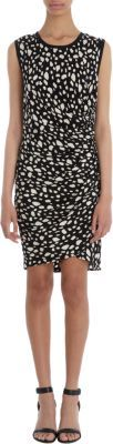 Sea Spots Print Sleeveless Dress