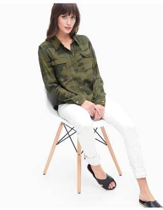 Splendid Camo Print Double Cloth Shirt