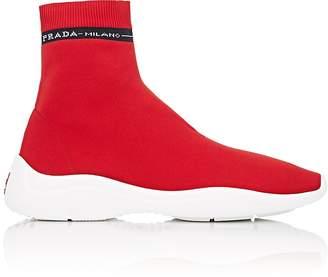 Prada Women's Logo Knit Sock Sneakers