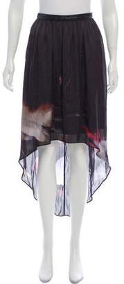 Yigal Azrouel Cut25 by Printed High-Low Skirt