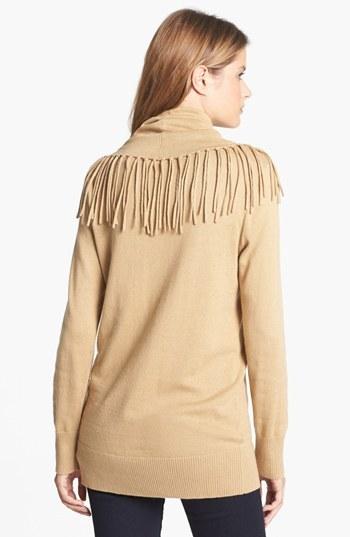 MICHAEL Michael Kors Fringed Cowl Neck Sweater