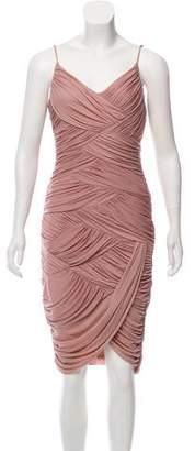 Halston Draped Bodycon Dress