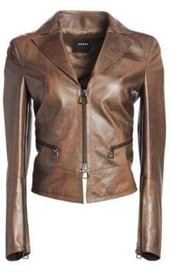 Akris Iridescent Leather Jacket