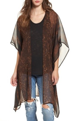 Women's Sun & Shadow Drape Kimono $49 thestylecure.com