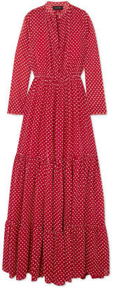 Saloni Alexia Swiss-dot Chiffon Maxi Dress