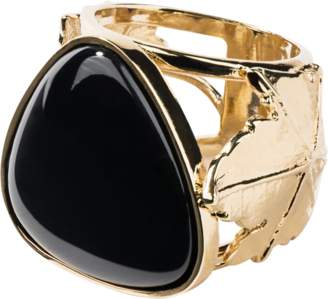 Aurelie Bidermann Vitis Ring With Black Agate