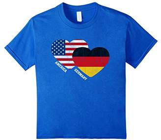 Germany Flag T-Shirt German American Flag Vintage Tee Shirt