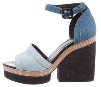 Pierre Hardy Denim Platform Sandals