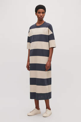 Cos LONG STRIPED T-SHIRT DRESS