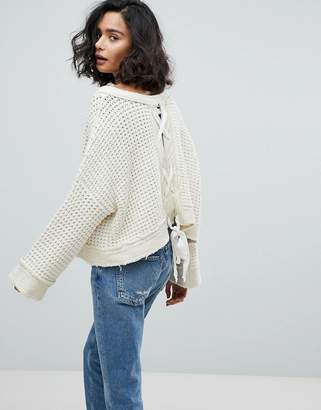 Free People Maybe Baby Jumper With Back Tie