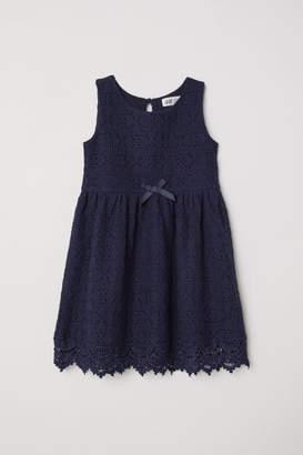 H&M Sleeveless Lace Dress - Blue