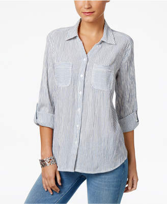 Style & Co Cotton Striped Shirt, Only at Macy's $54.50 thestylecure.com
