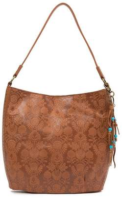 The Sak Indio Embossed Leather Bucket Bag
