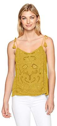 Lucky Brand Women's Washed Embriodered Top