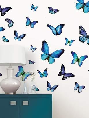 Mariposa Brewster Butterfly Wall Art Kit (Set of 42)