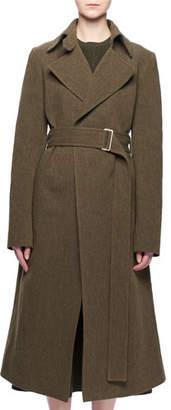Victoria Beckham Two-Pocket Belted Wool-Blend Coat