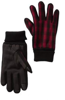 Levi's Faux Fur Lined Buffalo Plaid Gloves