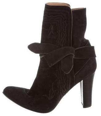 Ulla Johnson Suede Wrap-Around Boots